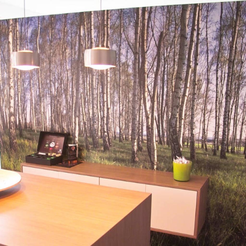 Custom Office Cafeteria Wallpaper Mural
