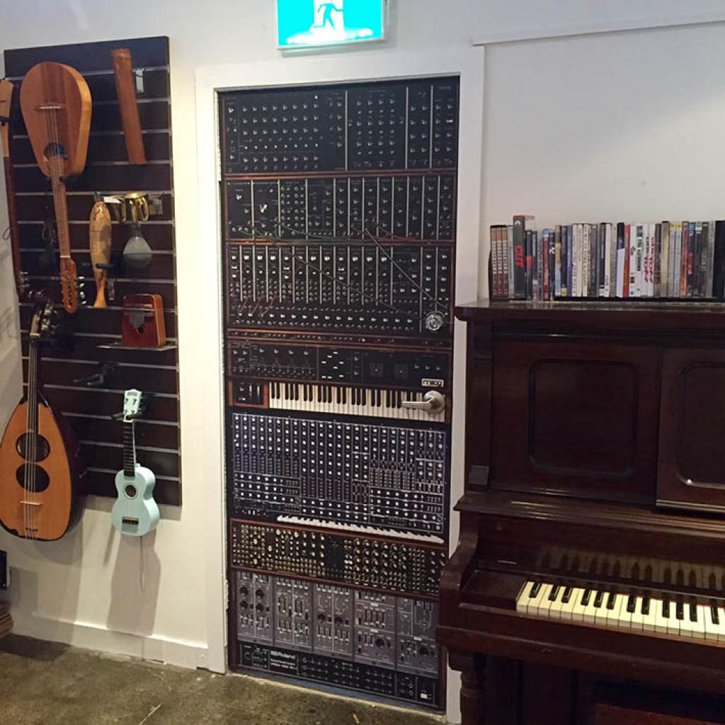 Music Studio Door Wallpaper
