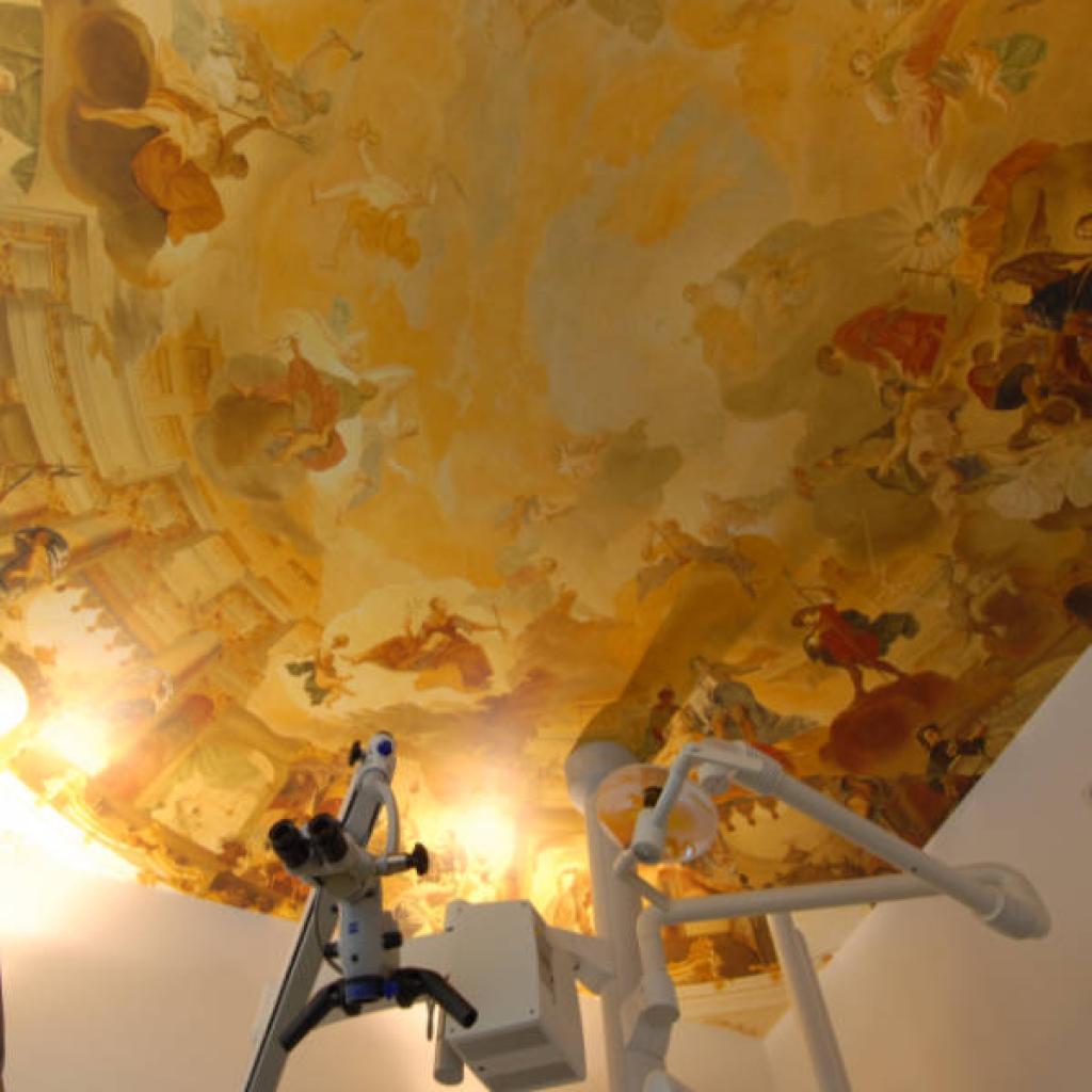 Custom Wallpaper for Dental Practice, Ceiling Fresco