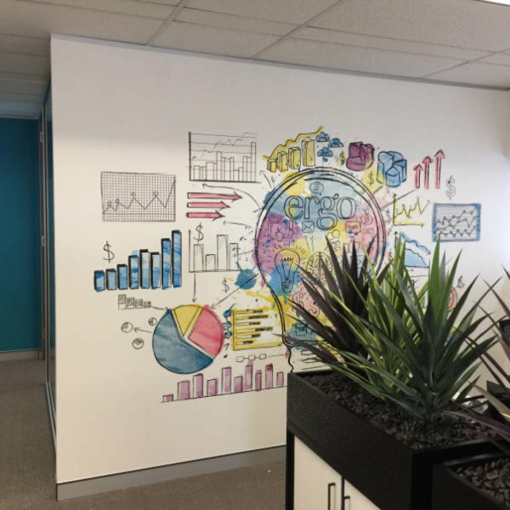 Custom Office Space Wallpaper Mural