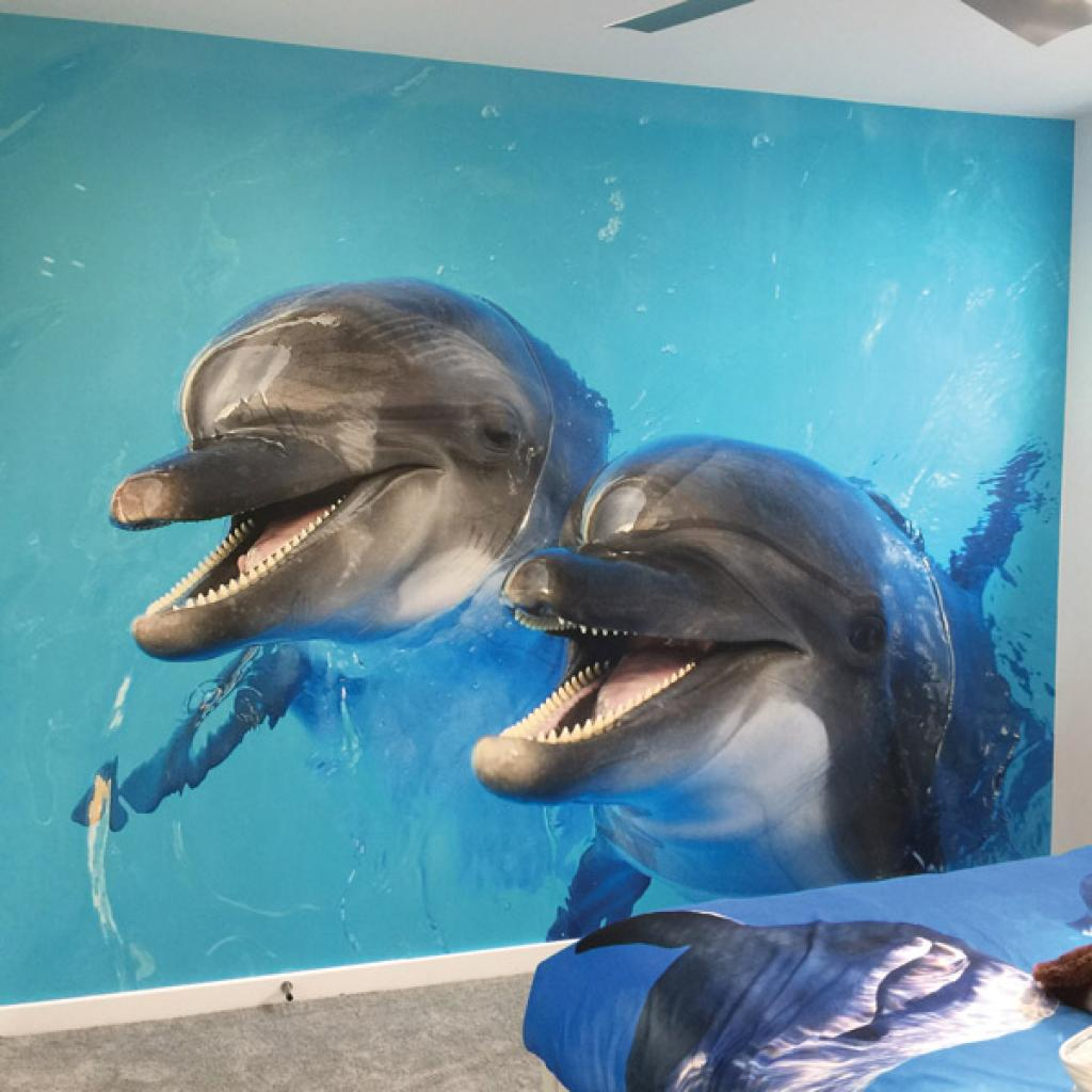 Kid's Room Dolphin Wallpaper Mural