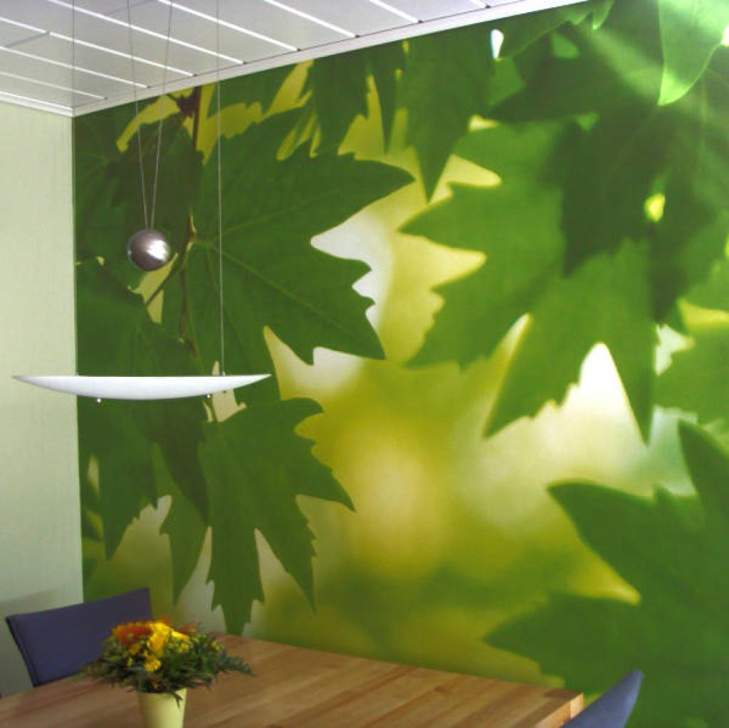 Green Leaves Wallpaper Mural