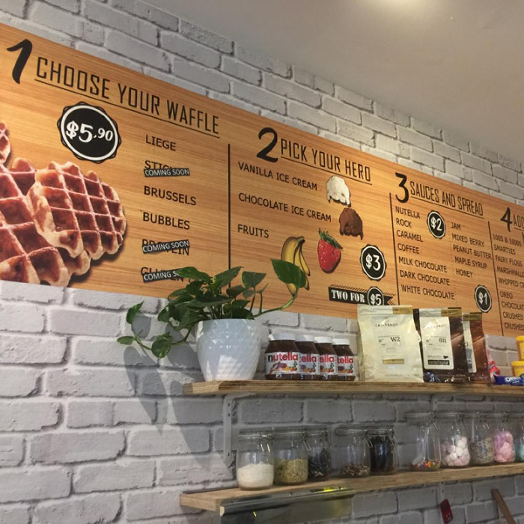 Retail Waffle Shop Wallpaper