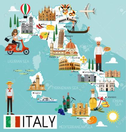 Italy Travel Map