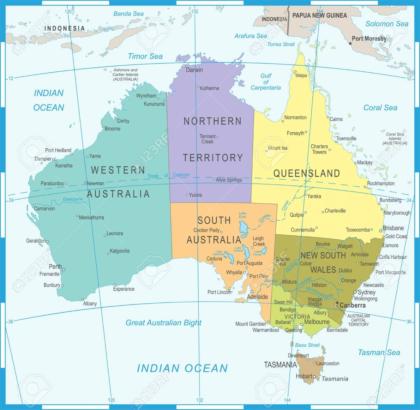 Australia Map - Detailed Vector Illustration