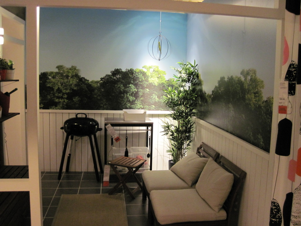Custom wallpaper murals at IKEA