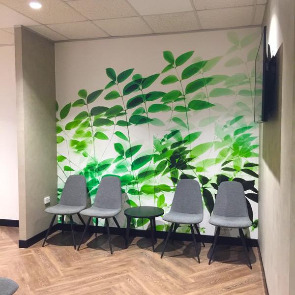 Waiting area in dental practice