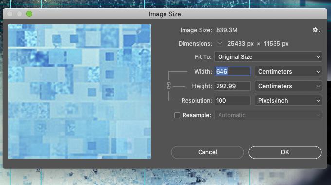 Image size - PhotoShop