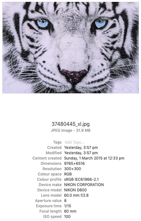 Image size - Apple OS