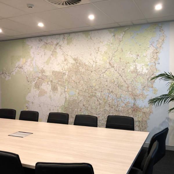 Custom Printed Sydney Map Wallpaper Mural