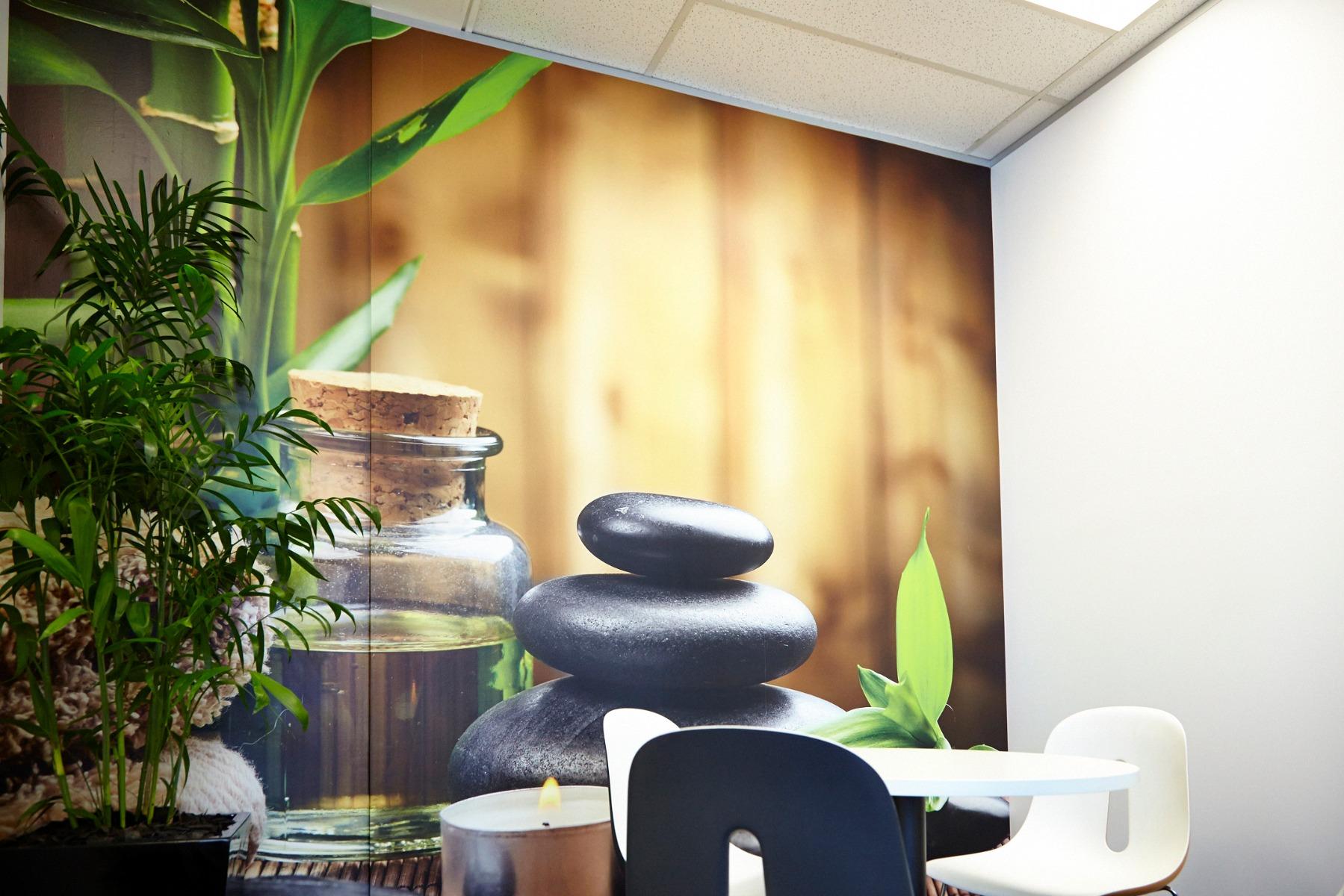 Custom Printed Wallpaper in Meeting Room