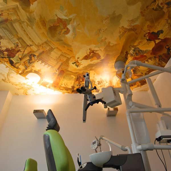 Custom Printed Dental Practice Ceiling Wallpaper