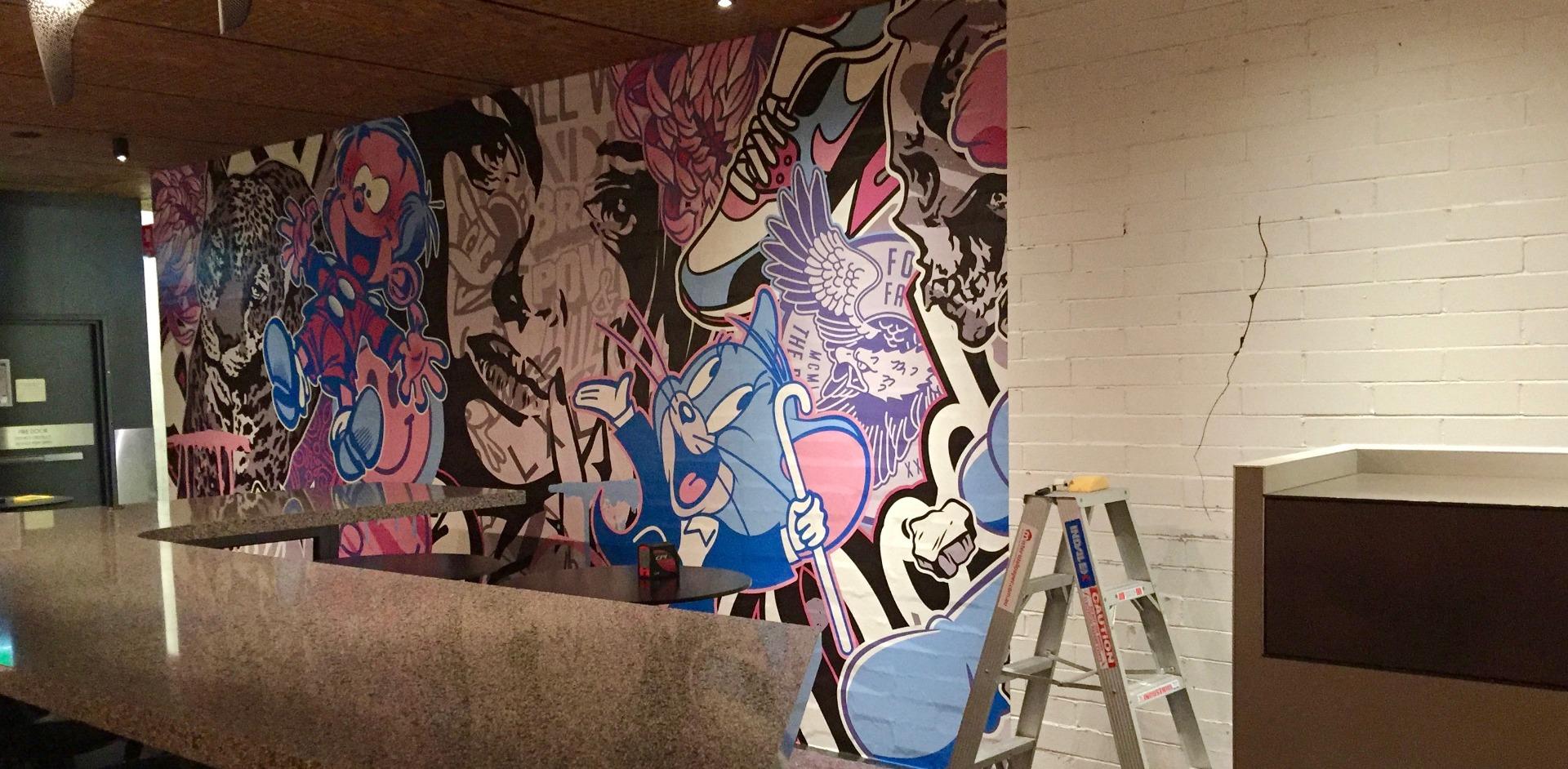 Mister Wallpaper installing