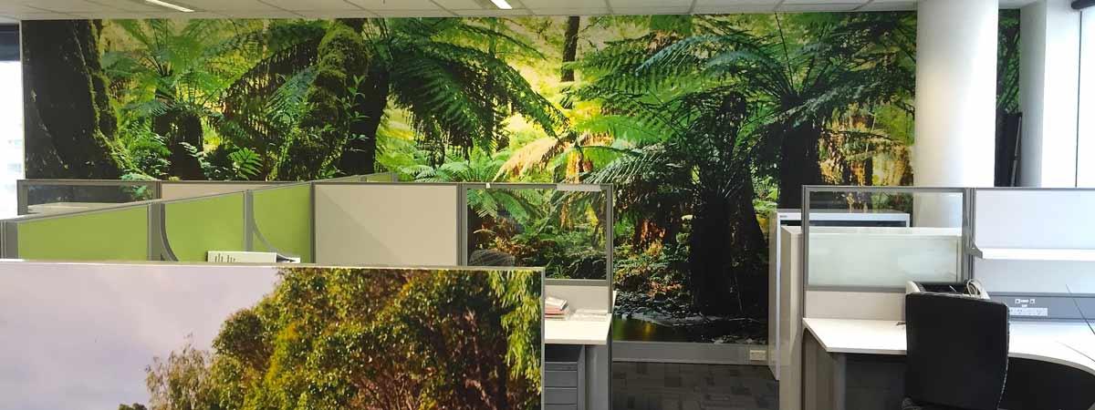 Custom Printed Office Wallpaper Mural Rainforest