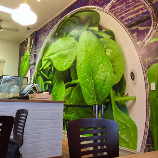 Custom Printed Salad Shop Wallpaper Mural